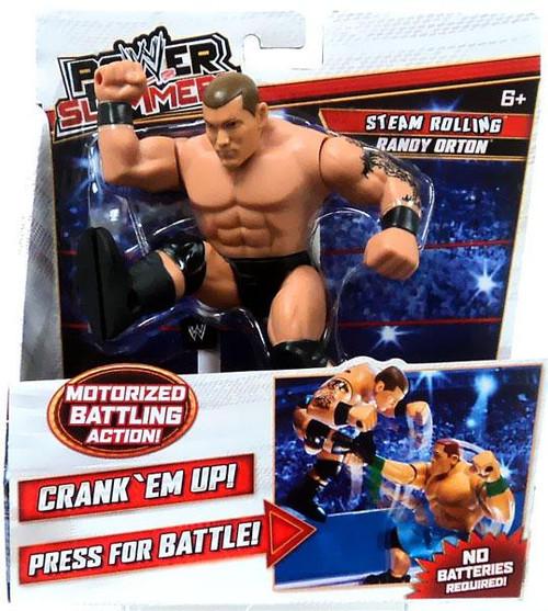WWE Wrestling Power Slammers Steam Rolling Randy Orton Action Figure