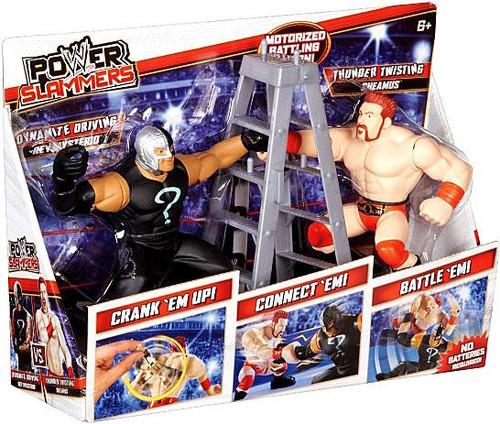 WWE Wrestling Battle Pack Power Slammers Dynamite Driving Rey Mysterio & Thunder Twisting Sheamus Action Figure 2-Pack