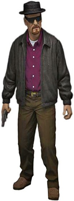Breaking Bad Walter White as Heisenberg Action Figure [Purple Shirt with Hat]