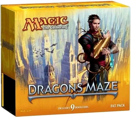 MtG Trading Card Game Dragon's Maze Fat Pack [Includes 9 Booster Packs!]