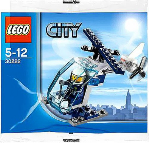 LEGO City Police Helicopter Mini Set #30222 [Bagged]