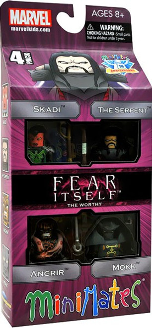 Marvel Fear Itself Minimates The Worthy Exclusive Minifigure 4-Pack