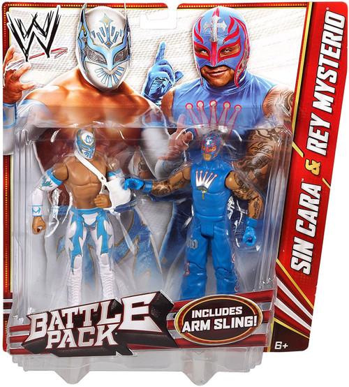 WWE Wrestling Battle Pack Series 22 Sin Cara & Rey Mysterio Action Figure 2-Pack [Arm Sling]
