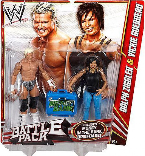 WWE Wrestling Battle Pack Series 22 Dolph Ziggler & Vickie Guerrero Action Figure 2-Pack [Money in the Bank Briefcase]