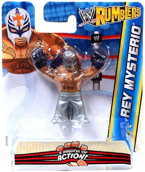 WWE Wrestling Rumblers Series 2 Rey Mysterio Mini Figure [Silver Outfit]