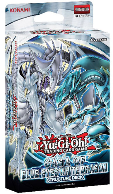 YuGiOh Trading Card Game Saga of Blue-Eyes White Dragon (1st Edition) Structure Deck