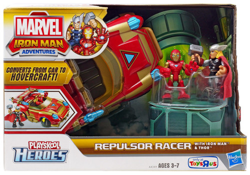 Marvel Playskool Heroes Iron Man Adventures Repulsor Racer Exclusive Action Figure Set