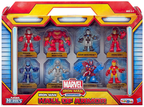 Marvel Playskool Heroes Iron Man Adventures Iron Man Hall of Armor Exclusive Action Figure Set
