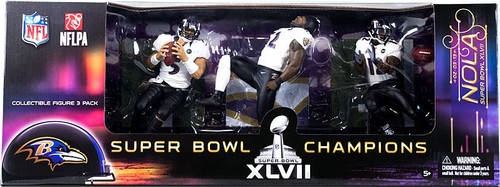 McFarlane Toys NFL Baltimore Ravens Sports Picks Joe Flacco, Ray Lewis & Jacoby Jones Action Figure 3-Pack [Super Bowl]