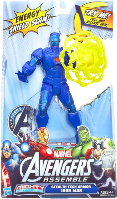 Marvel Avengers Assemble Mighty Battlers Stealth Iron Man Action Figure