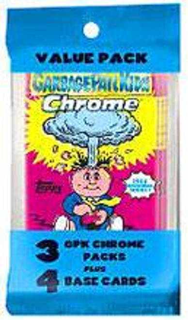 Garbage Pail Kids Topps 2013 Chrome Trading Card VALUE Pack [3 Packs + 4 Base Cards!]