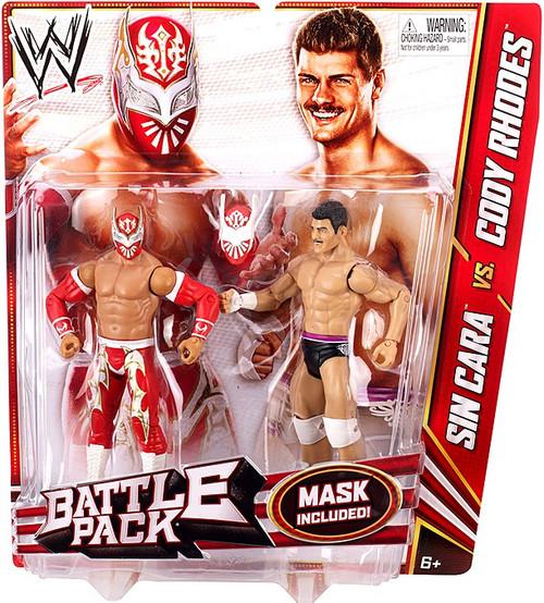 WWE Wrestling Battle Pack Series 23 Sin Cara vs. Cody Rhodes Action Figure 2-Pack [Mask]