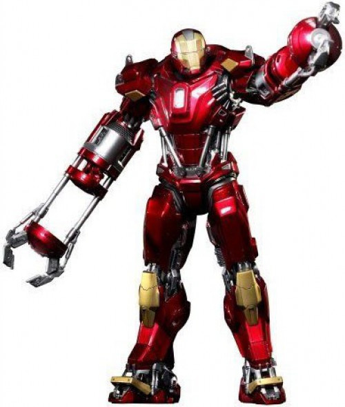 Iron Man 3 Power Pose Iron Man Mark 35 Red Snapper Collectible Figure