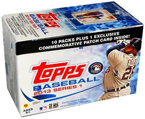 MLB Topps 2013 Series 1 Baseball Trading Card BLASTER Box [10 Packs!]