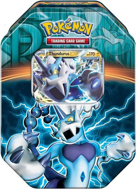 Pokemon Trading Card Game 2013 Black & White Team Plasma Thundurus EX Tin Set