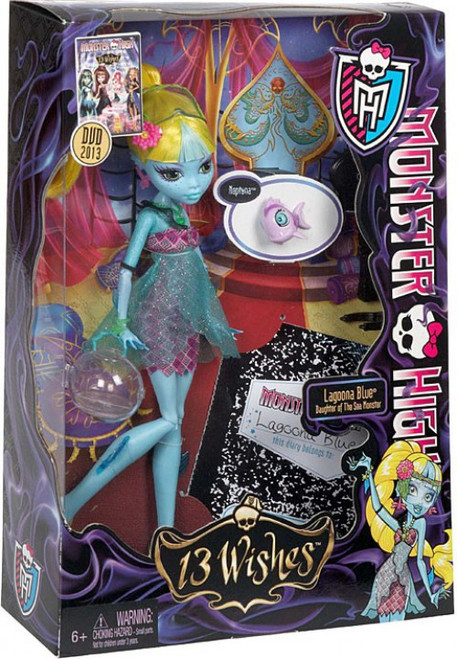 Monster High 13 Wishes Lagoona Blue 10.5-Inch Doll