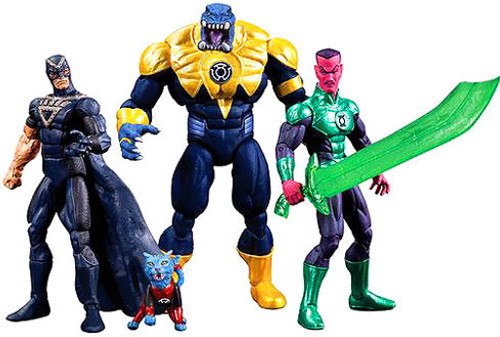 DC Green Lantern Black Hand, Dex-Starr, Arkillo & Sinestro Exclusive Action Figure 4-Pack
