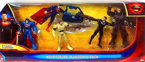 Superman Man of Steel Kryptonian Invasion Exclusive Action Figure 5-Pack