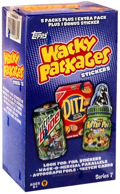 Wacky Packages Topps Series 7 Trading Card Sticker VALUE Box [6 Packs]