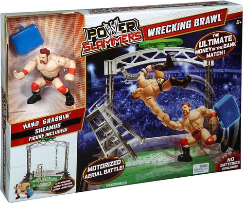 WWE Wrestling Power Slammers Wrecking Brawl Mini Figure Playset