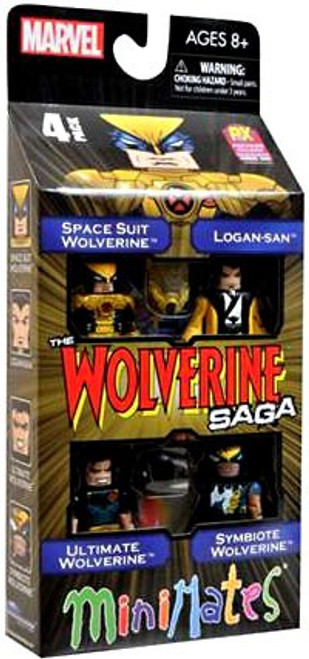 Minimates The Wolverine Saga Exclusive Minifigure 4-Pack