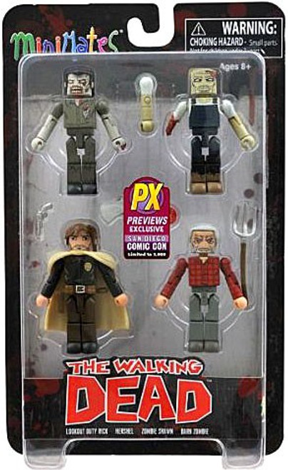 The Walking Dead Minimates Exclusives Herschels Farm Exclusive Minifigure 4-Pack