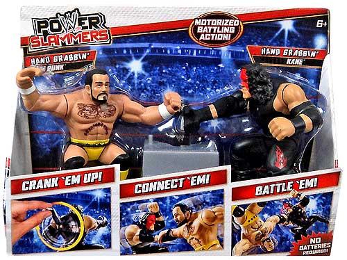 WWE Wrestling Battle Pack Power Slammers Hand Grabbin' CM Hand Grabbin' Punk & Kane Action Figure 2-Pack