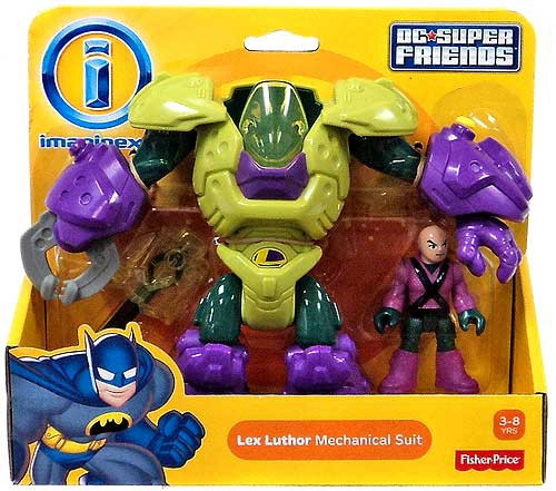 Fisher Price DC Super Friends Imaginext Lex Luthor Mechanical Suit 3-Inch Figure Set