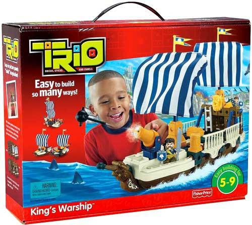 Fisher Price TRIO King's Warship Playset