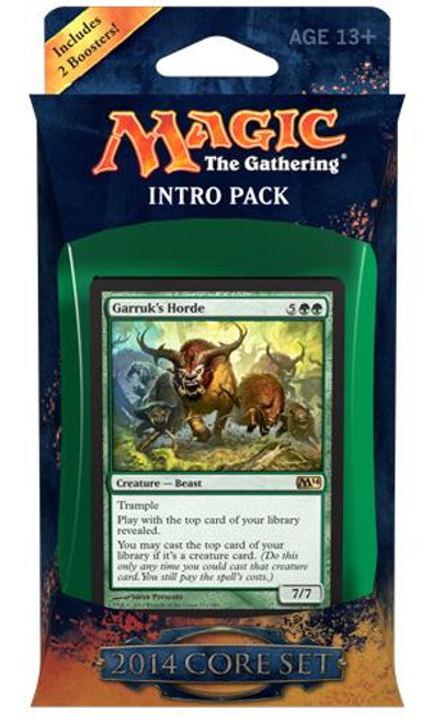 MtG Trading Card Game 2014 Core Set Bestial Strength Intro Pack