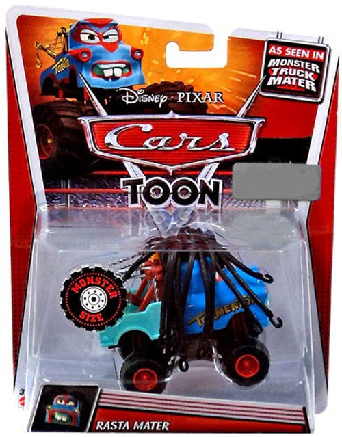 Disney / Pixar Cars Cars Toon Deluxe Oversized Rasta Mater Exclusive Diecast Car