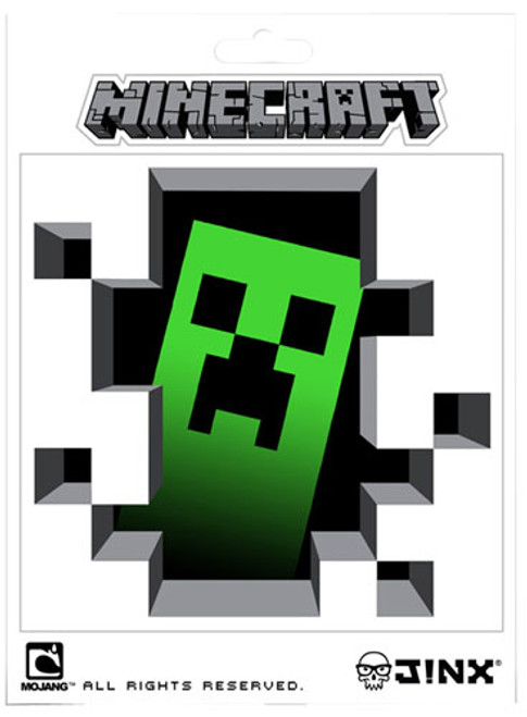 Minecraft Creeper Inside 5-Inch Sticker