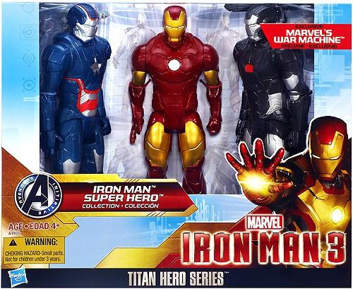 Iron Man 3 Titan Hero Series Iron Man Super Hero Collection Action Figure 3-Pack