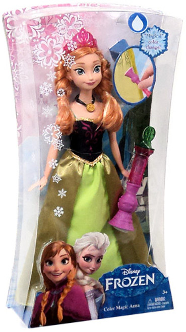 Disney Frozen Color Magic Anna 11-Inch Doll [Green Dress]