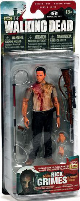 McFarlane Toys The Walking Dead AMC TV Series 4 Deputy Rick Grimes Exclusive Action Figure [Bloody]