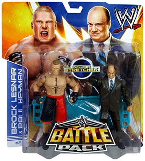 WWE Wrestling Battle Pack Series 25 Paul Heyman & Brock Lesnar Action Figure 2-Pack [Stretcher]