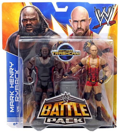 WWE Wrestling Battle Pack Series 25 Mark Henry vs. Ryback Action Figure 2-Pack [Trashcan]