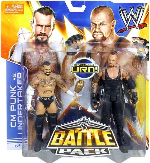 WWE Wrestling Battle Pack Series 25 CM Punk vs. Undertaker Action Figure 2-Pack [Urn]