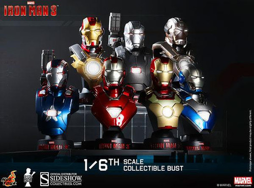 Iron Man 3 1/6th Scale Collectible Bust Set