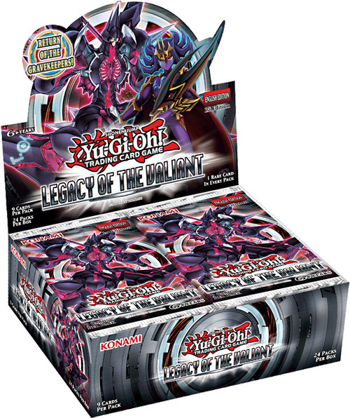 YuGiOh Trading Card Game Legacy of the Valiant Booster Box [24 Packs]