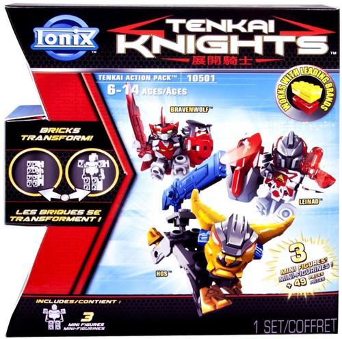 Tenkai Knights Bravenwolf, Leinad & HOS Minifigure 3-Pack #10501