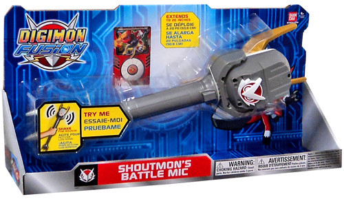 Digimon Fusion Shoutmon's Battle Mic Roleplay Toy
