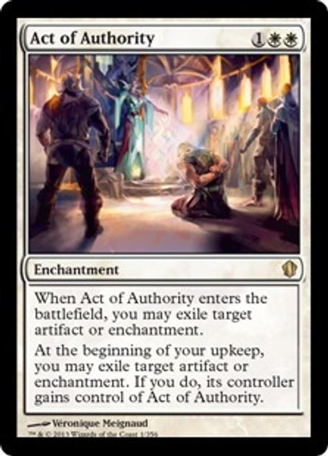 MtG Commander 2013 Rare Act of Authority #1
