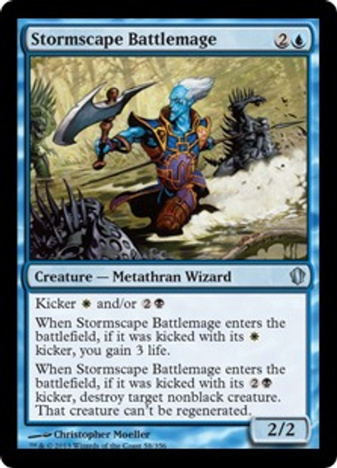 MtG Commander 2013 Uncommon Stormscape Battlemage #58