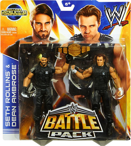 WWE Wrestling Battle Pack Series 26 Seth Rollins & Dean Ambrose Action Figure 2-Pack [United States Championship]