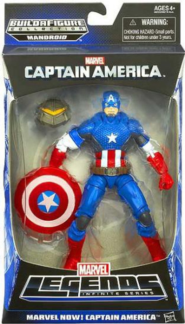 Marvel Legends Mandroid Series 1 Marvel Now! Captain America Action Figure