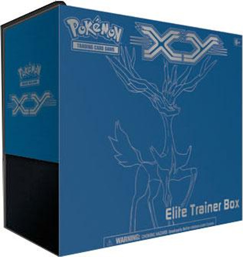 Pokemon Trading Card Game XY Xerneas Elite Trainer Box [8 Booster Packs, 65 Card Sleeves, 45 Energy Cards & More]