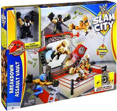 WWE Wrestling Playsets Slam City Breakdown Assault Vault Ring Action Figure Playset
