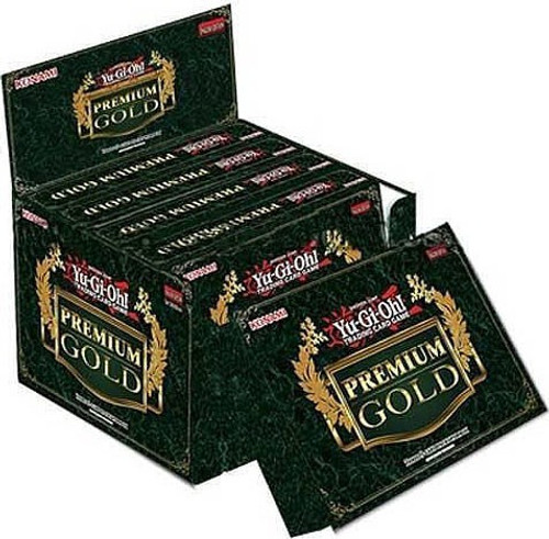 YuGiOh Trading Card Game Premium Gold DISPLAY Box [5 MINI Boxes (15 Booster Packs)]