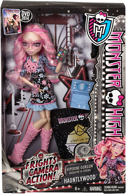 Monster High Frights, Camera, Action Hauntlywood Viperine Gorgon 10.5-Inch Doll